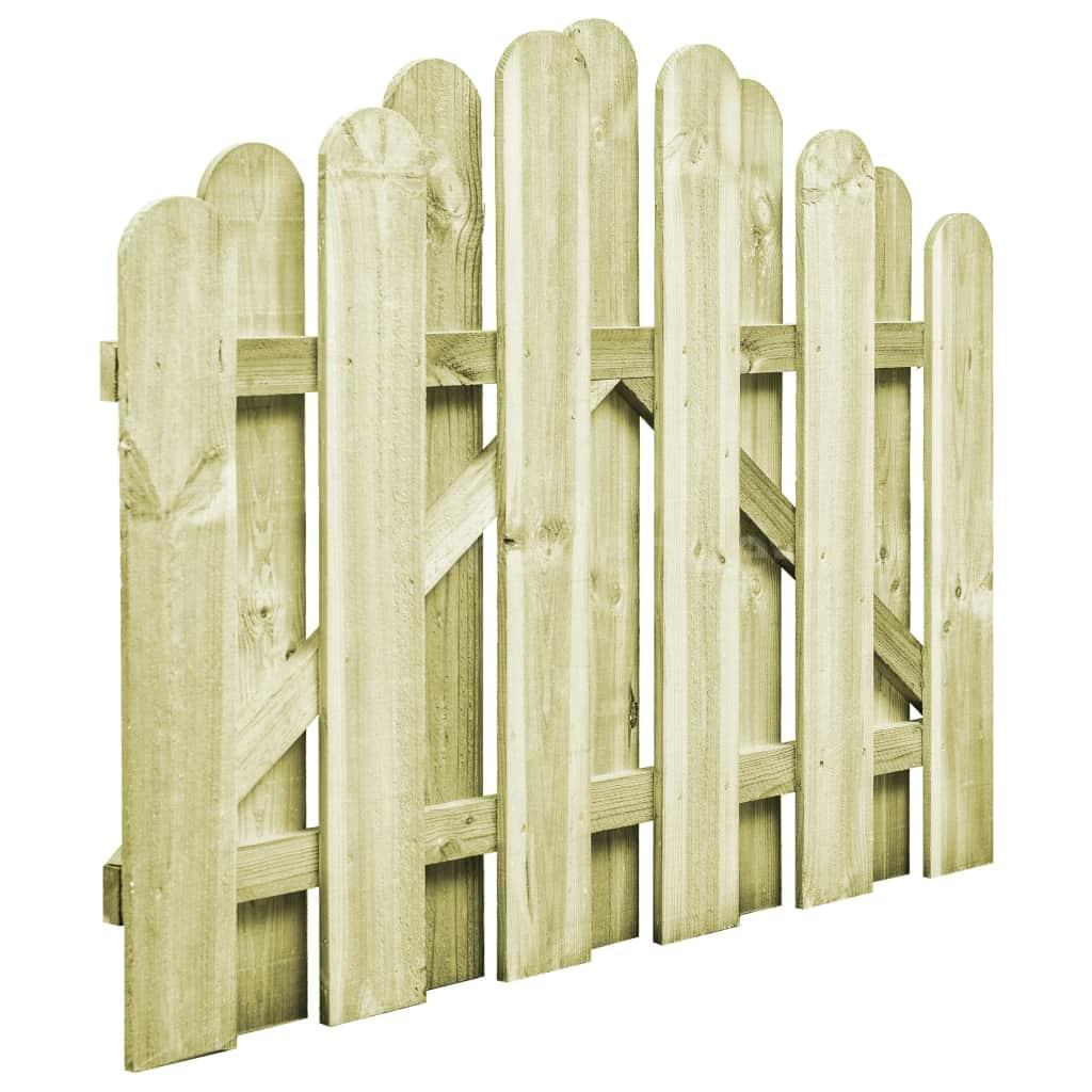 Portail de Jardin Bois Pin Imprégné 100 x 75 cm Arche Portillon ...
